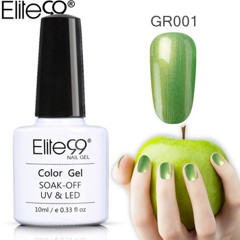 Elite99 Green Color Nail Gel Polish UV&LED 10ML Long lasting soak off Varnish Wholesale Manicure Nail Polish All 36pcs