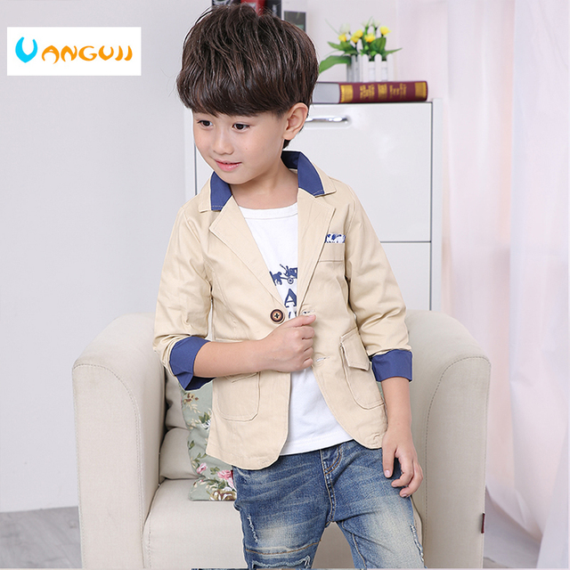 92e45776a boys Leisure Suit children s clothing 3 11 year old Hit color Spring ...