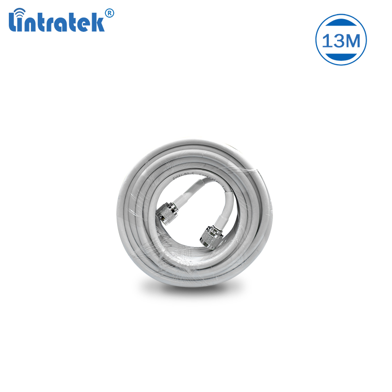 Lintratek 13 Meters Cable With N-male Connectors For Mobile Phone Signal Repeater And Antenna Set