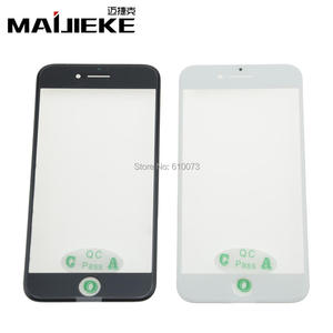 MAIJIEKE AAA+ 3 in 1 Front Outer Glass with Middle Frame Bezel+OCA Film for iPhone 7&7 plus Screen Replacement repair parts