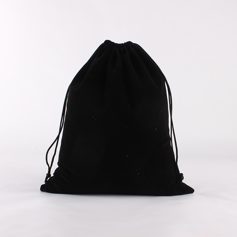 20pcs/lot 25*30cm Black Customized Logo Printed Wedding Velvet Drawstring Pouch Bags
