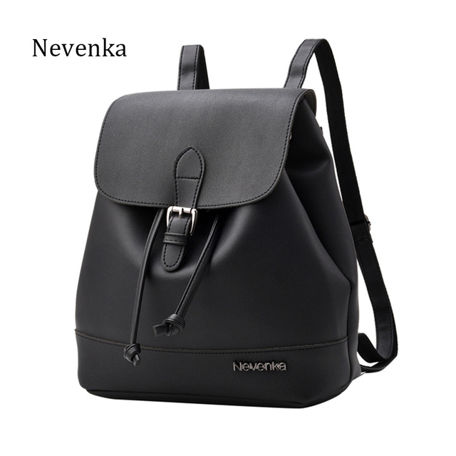 NEVNEKA Hot Sale Brand Women Fashion Backpack Female Solid Color Casual Simple Style Shoulder Bag Daily Schoolbag Bags Bao