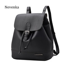 NEVNEKA Hot Sale Brand Women Fashion Backpack Female Solid Color Casual Simple Style Shoulder Bag Daily Schoolbag Bags Bao(China)