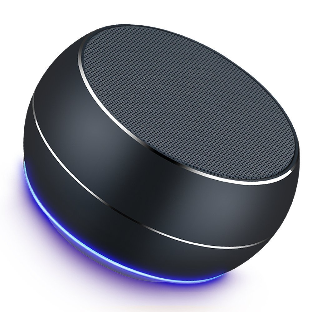 Portable Bluetooth Speakers Mini Wireless Outdoor Speakers with LED,Built-in-Mic,Handsfree Call,AUX Line,TF Card,