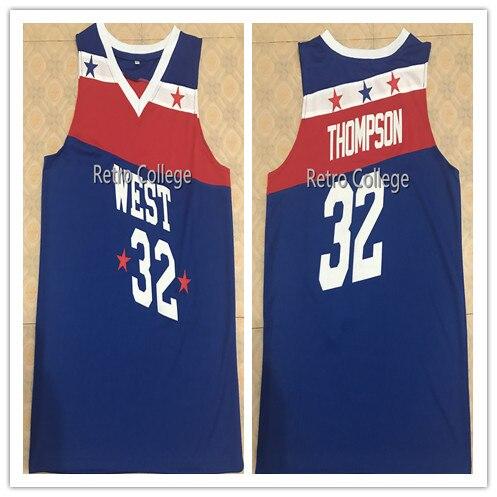 #32 David Thompson West all star game 1979 maillot de basket-ball brodé personnaliser n'importe quel nom et numéro
