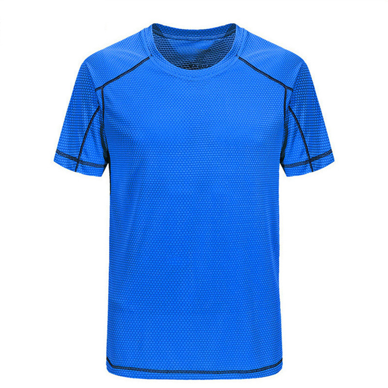 Polo shirt round neck outdoor sports T-shirt mens quick-drying solid color clothing short-sleeved fitness quick-drying clothes