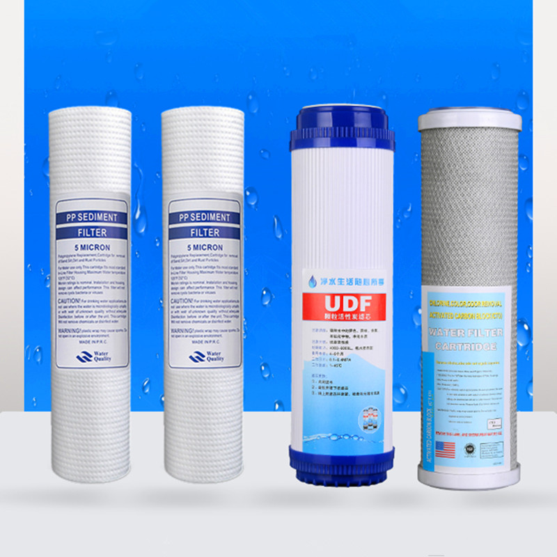 10 Water Purifier Filter Element 5 micron PP Cotton Filter+ UDF Granular Activated Carbon Filter+CTO Compressed Carbon Filter 20 inch common standards cto compression sintered activated carbon rod filter water purifier filter parts accessories