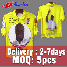 2016 New Breathable Fabric Sublimation Customized Advertising/Promotion Polo T Shirts