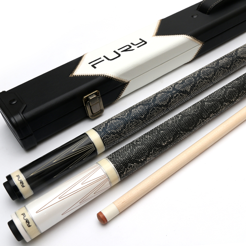 цена 2018 Luxury High-end FURY 1/2 Pool Cue Stick With Case North American Maple Billiard Cue Kit For Champion Professional Athlete