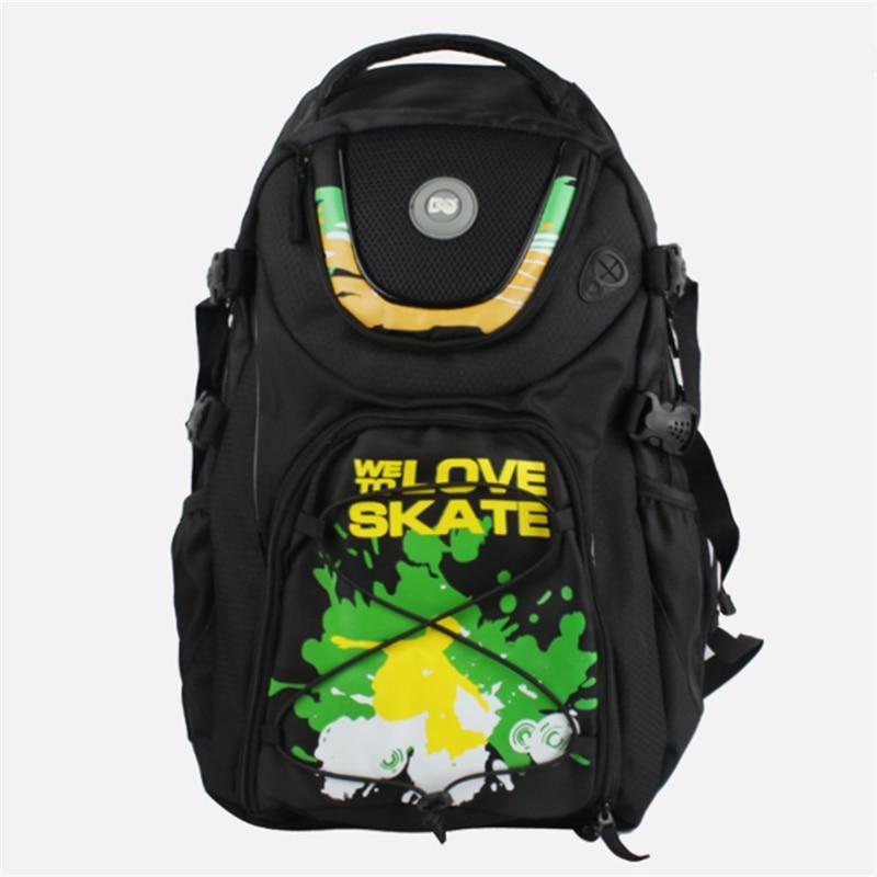 DC Bag LET'S SKATE Backpack Container Skating Bag For SEBA High HV Powerslide PS Inline Skate Roller EUR 44 Max WE LOVE TO SKATE