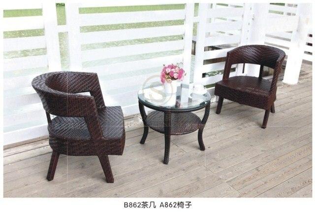 Il nuovo tre pezzo sedie per esterni sedie in rattan tavolino e