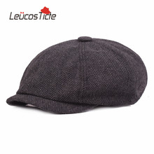 LeucosTicte Hairy Newsboy Caps Men and Women Fall and Winter Cap Forward Thicken Warm Hat Painter Star with the money