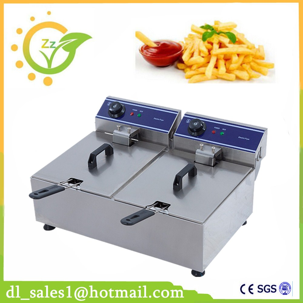 High Quality Electric Fryer Electric Deep Fryer Electric Frying Pan Stainless Steel Frying Machine kitchen appliance 20l double cylinder electric fryer french fries chicken electric frying pan stainless steel deep fryer machine