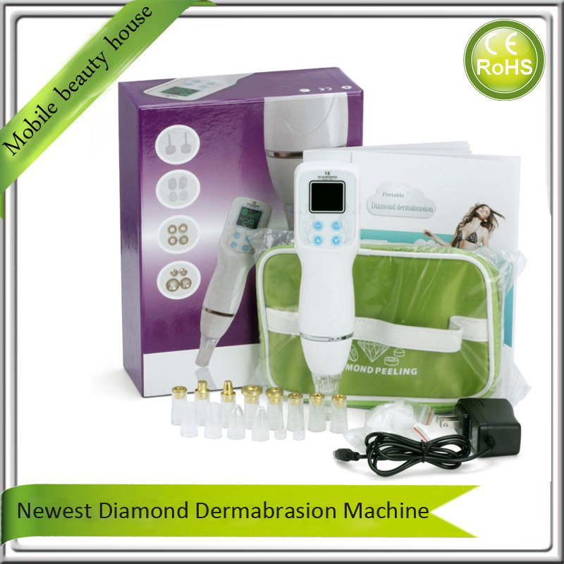 8 Levels Adjustable Skin Peeling Pores Cleansing Lifting Diamond Microdermabrasion Nose Blackhead Suction Beauty Care Machine portable diamond microdermabrasion deep pores cleansing skin peeling exfoliating nose blackhead removal face beauty machine