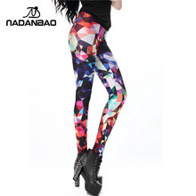 NADANBAO Women leggings Geometric Boho Art Printed leggins Girl legins Sexy Slim Women Pants