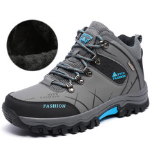 Plus Size Hiking Shoes Winter Men Warm Hiking Boots Mountain Climbing Shoes Outdoor Sport Shoes Trekking Athletic Sneakers 46 47