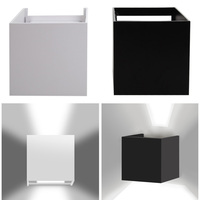 7W Led Outdoor Wall Lamp IP67 Surface Mounted Outdoor Cube Led White Light