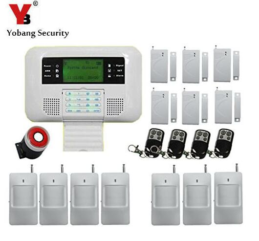 Yobang Security 99 Wireless Zones GSM PSTN Home Alarm GSM SMS Alarm Smart LCD Display Security Alarm System Alarma GSM yobang security touch lcd screen pstn sms alarm system home security gsm alarm system quad band wireless alarm panel