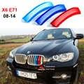 Für 2008-2014 BMW X6 X6M E71 E72 Zubehör 3D M Styling Auto Kühlergrill Trim Streifen Sport Abdeckung dekoration Aufkleber