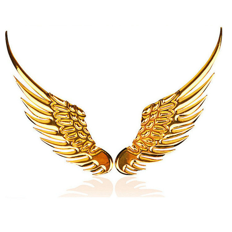 2 colors car styling sticker Metal wings sticker eagle