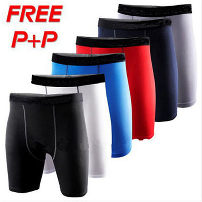 # 1004 Män Pojkar Hög Elasticitet Sport Running Gym Fitness Athletic Skins Tights Sweat Wicking Quick Dry Shorts 7Colors S-3XL
