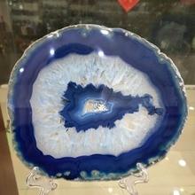 120-140mm Natural agate slices coaster Polished Blue Agate Slice
