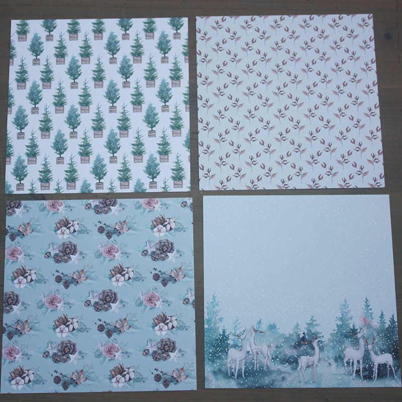KLJUYP 12 листов зимнее время подставки для семейного альбома Бумага искусства оригами фон изготовление бумажных карточек DIY записная книжка