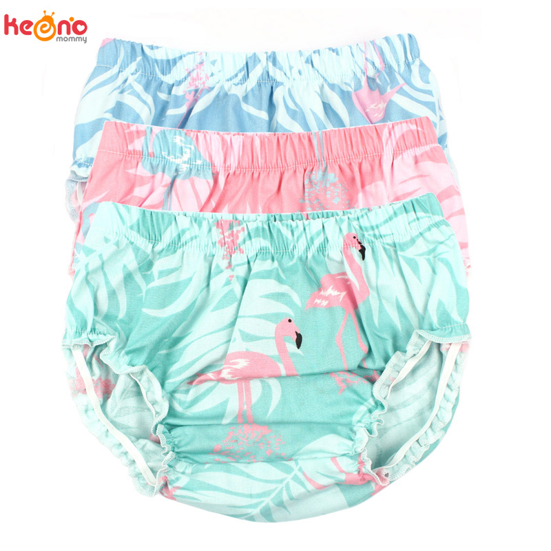 Baby Girl Bloomers Flamingos Pattern Toddler Cotton Shorts Newborn Summer Floral Diaper Cover Children Sun Clothing