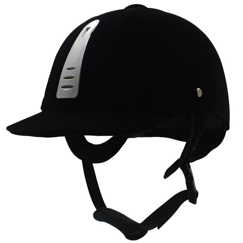 Equestrian Supplies Body Protectors Equestrian Helmets Fashion Black Velvet Riding Helmets Comfortable And Breathable