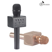 Original brand MicGeek Q11 NEW Wireless Karaoke Microphone 2.1 Sound Track Dimensional Sound Voice Change 5 Speakers Smartphone(China)