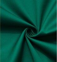 Свободный корабль 100% хлопок одежды сатин ткань Драгоценный Камень зеленый окрашенные продавец-ярда 57