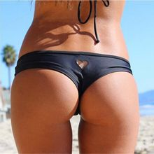 2017 Women Girl Brazilian Sexy Bikini Swimwear Thong Love Heart Cut Out Bottom Beachwear