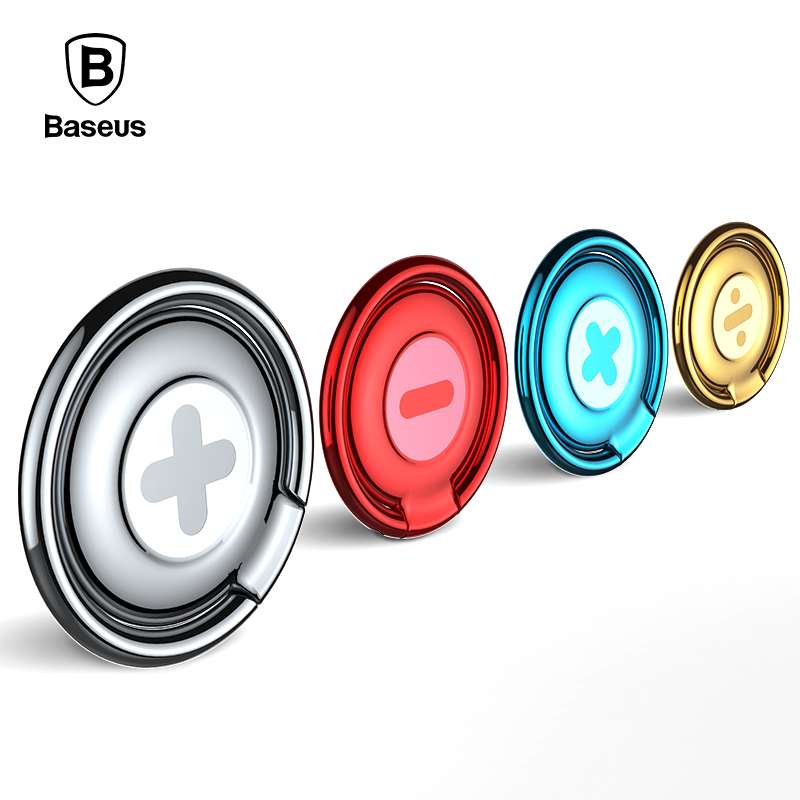 Baseus Phone Ring Holder Universal 360 Rotation Finger Ring Holder Stand For IPhone 7 6 Samsung S8 Plus Mobile Ring Phone Holder