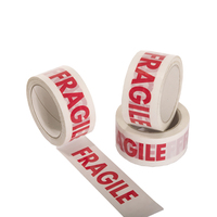 2017 New Arrival White And Red Good Quality Bopp Fragile Tape For Packing And Warning