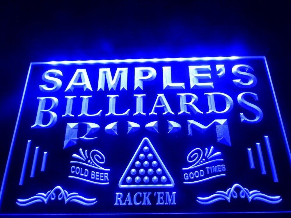 DZ011 Name Personalized Custom Billiards Pool Bar Room LED