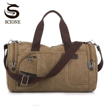 Find Deals Canvas Men Travel Bag Large Capacity Multifunctional Luggage Bags  Male Shoulder Bag Vintage Travel Duffel Bags Crossbody Handbag 993e7e9ad1214