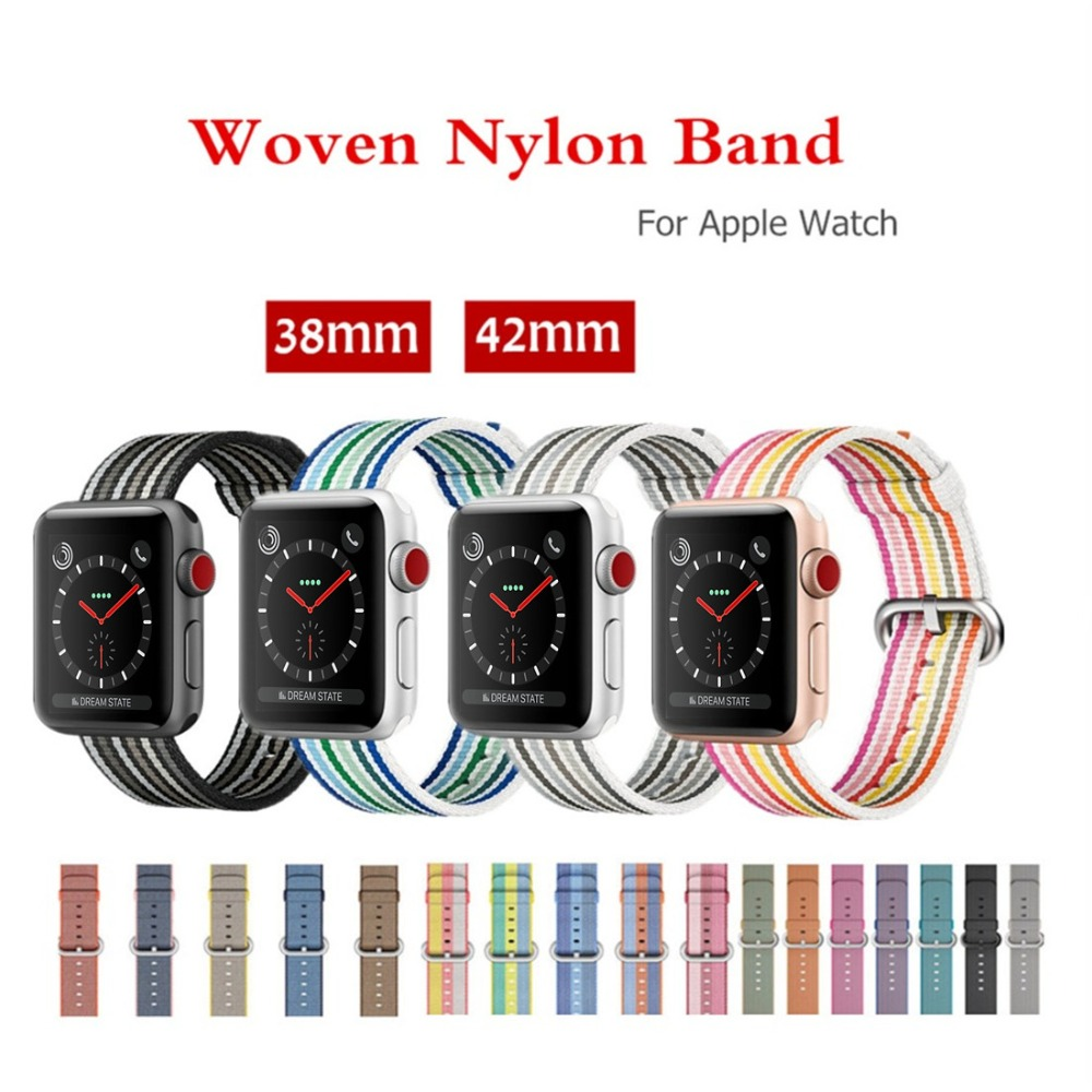 CRESTED strap For Apple Watch band 42mm/38mm iwatch series 3 2 1 sport Woven Nylon Fabric watchband wrist band bracelet belt crested woven nylon strap for apple watch band 42mm 38mm leather iwatch series 3 2 1 wrist bands bracelet watchband belt 2018