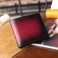 Genuine Leather Men Wallets Brand Luxury Quality Design Wallets with Coin Pocket Purses Gift Card Holder Bifold Male handpatina