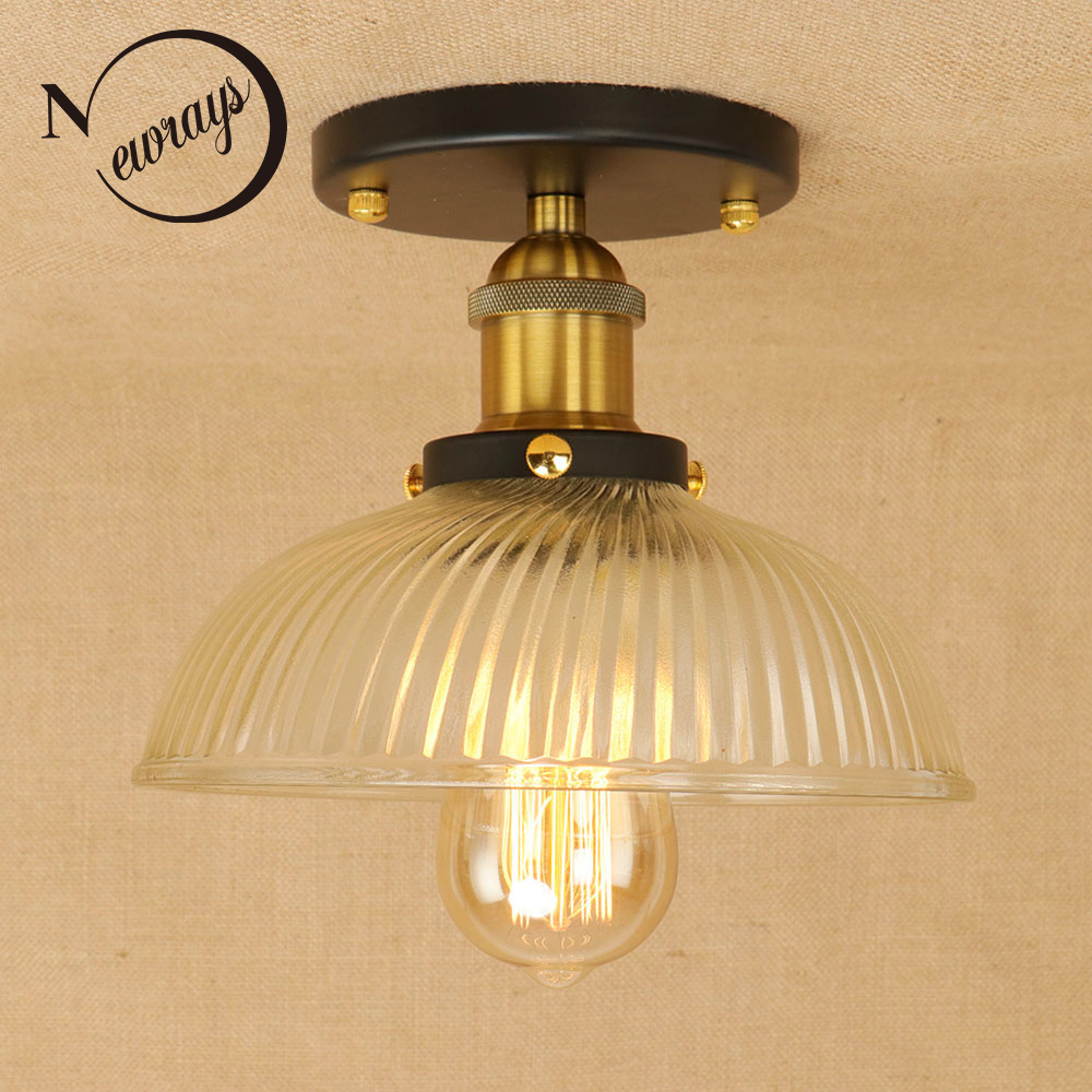 New Loft classical retro iron glass lampshade ceiling lamps LED E27 ceiling lights plafonnier luminaire for bedroom living room New Loft classical retro iron glass lampshade ceiling lamps LED E27 ceiling lights plafonnier luminaire for bedroom living room