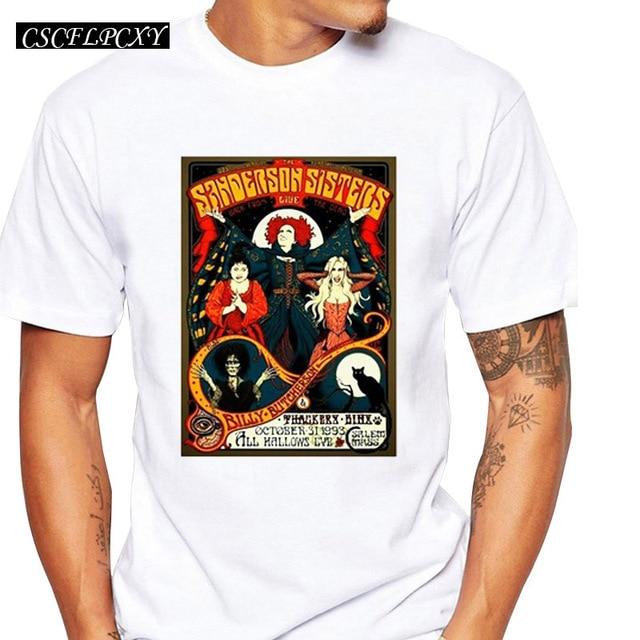 04edcf4e2 Hocus Pocus Sanderson Sisters T-shirts Summer Tops Vintage Tour Poster  Print T shirt Men short sleeve Fashion TshirtsCSCFLPCXY