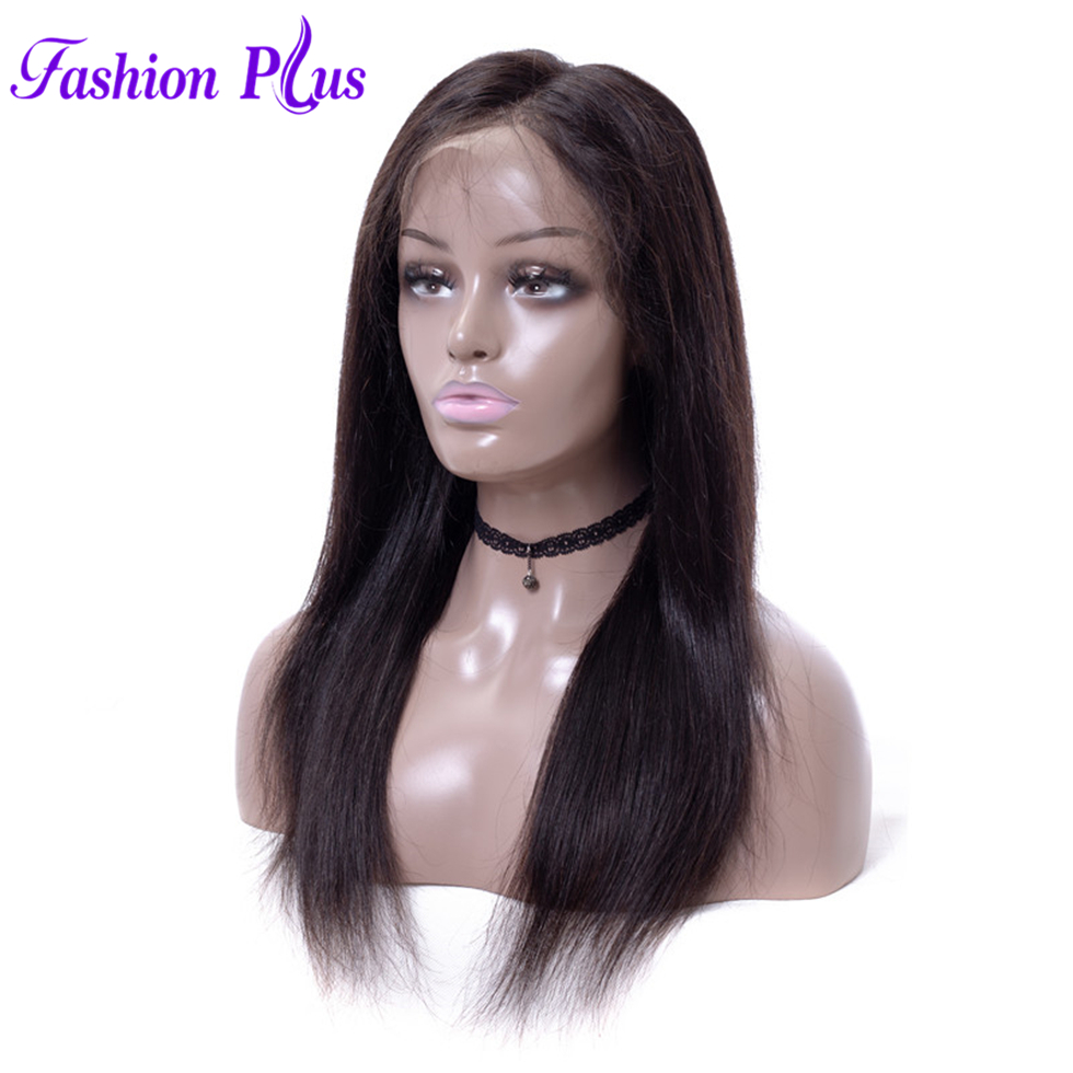 Fashion Plus Straight Full Lace Human Hair Wigs Free Part Brazilian Remy Hair Wigs 8