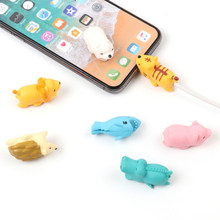 Dropshipping Cable Chompers Animal Protectors Bite Iphone protective case Take a bite Data line Charging Cable protective case(China)