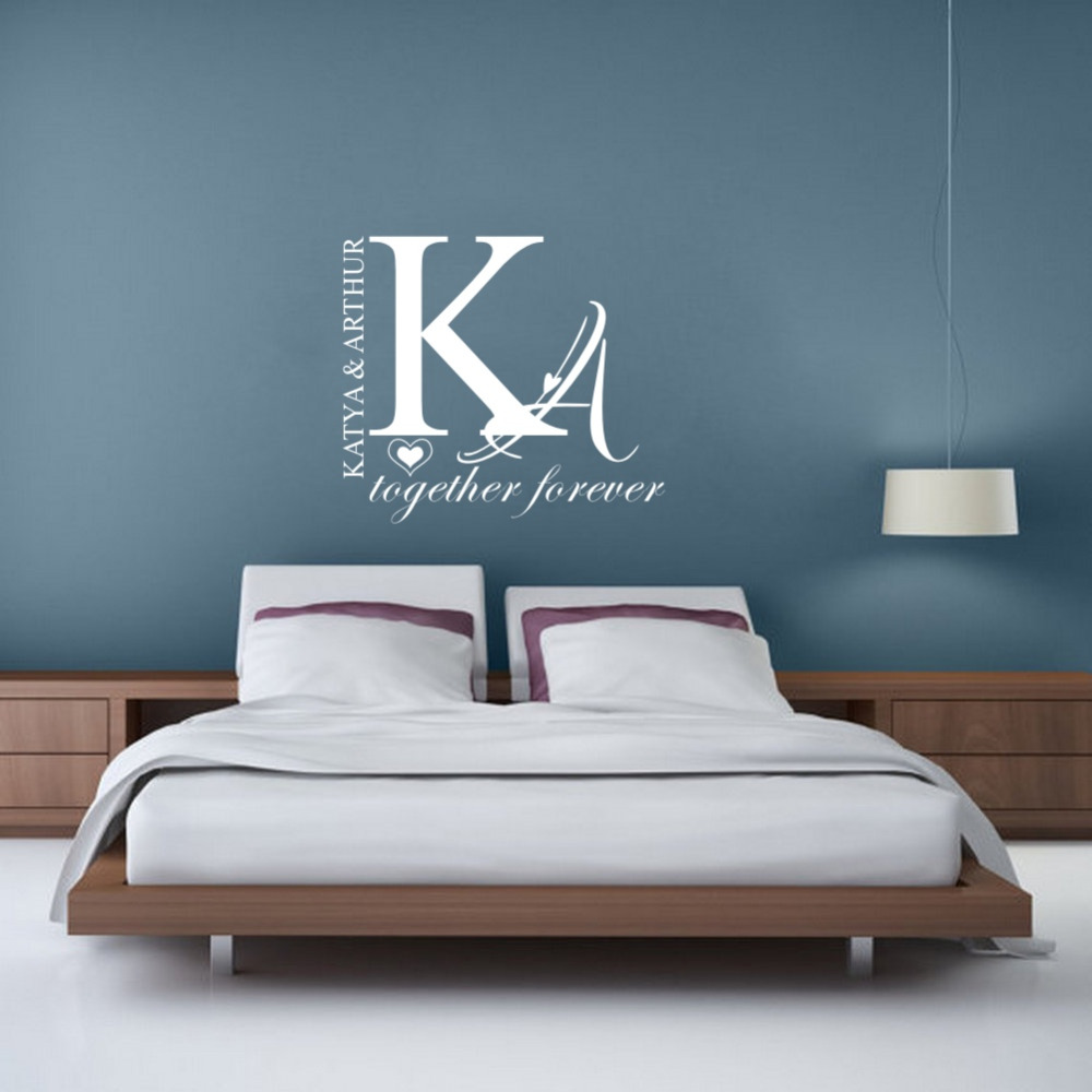 Personalized couple name wall sticker creative individual for Personalized home decor