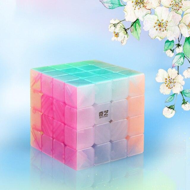 QIYI personalize 2x2x2 Jelly Stickerless Puzzles cube 3x3x3 magic speed qiyi cubes 4x4x4 cube 5x5x5 qiyi cube educational toys 5