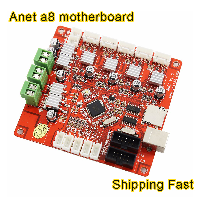 anet a8 Motherboard Updated 3D Printer parts V1.0 controller Reprap Mendel Prusa ramps 1.4 for A8 3d printer parts mainboard dc24v cooling extruder 5015 air blower 40 10fan for anet a6 a8 circuit board heat reprap mendel prusa i3 3d printer parts