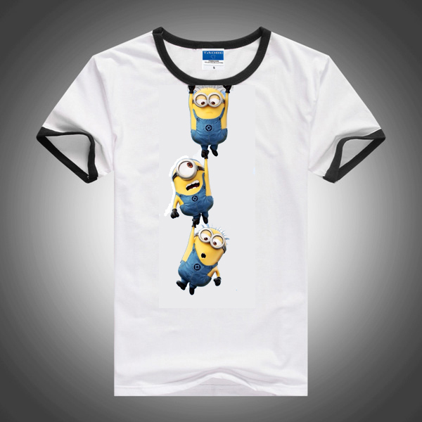 a73edf4e New 2015 cartoon anime figure despicable me minions clothes minion costume kid  clothes, superman t shirts,girls boys' t-shirts