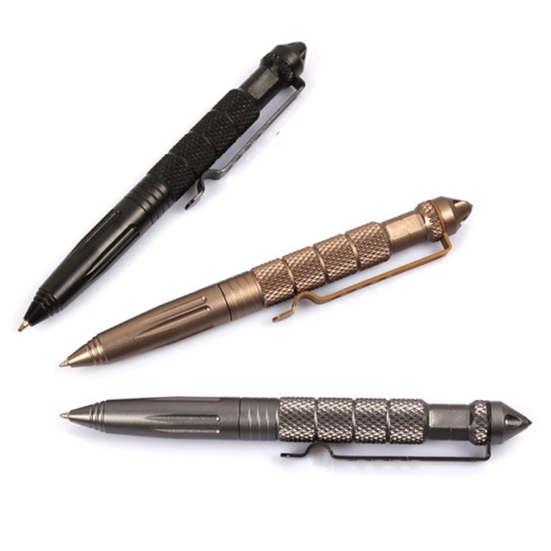 New Outdoor Convenient And Easy To Carry Pocket Black Tactical Pen Glass Breaker Self Defense Emergency Survival Tool