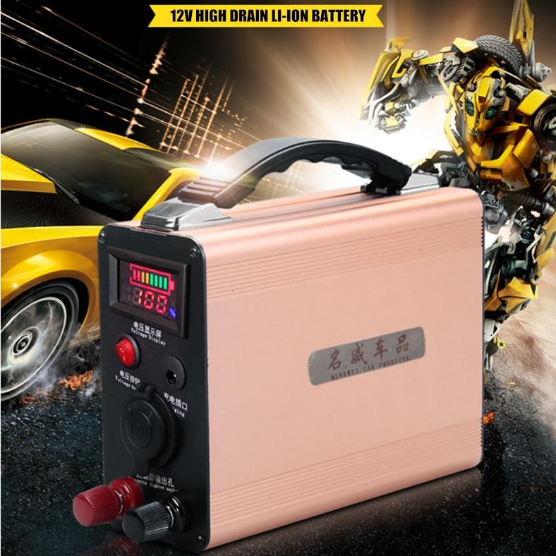 Multifonctionnel Haute puissance 12 V 60000 MAH 60AH Lithium li-ion rechargeable Batteries pour voiture d'urgence banque de Puissance de démarrage