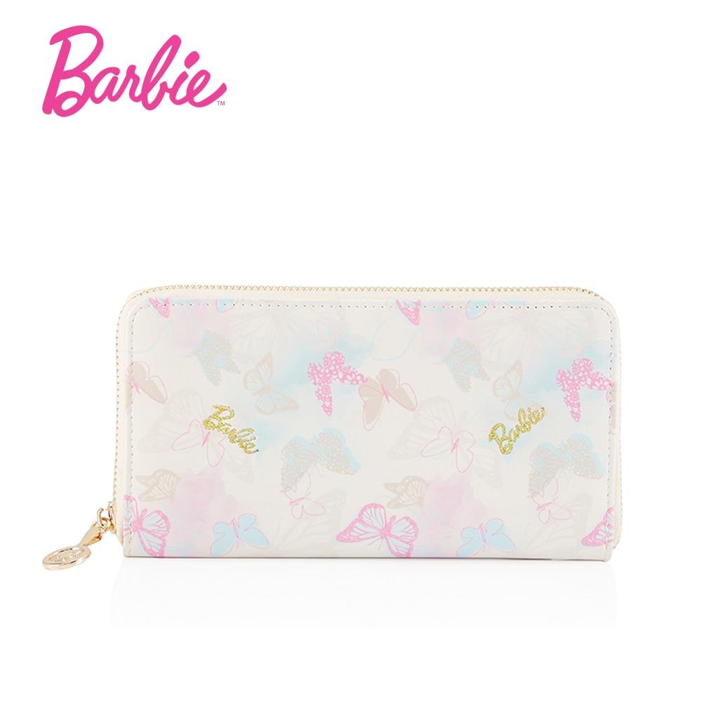 Barbie women Wallet Leather butterfy Purse Sweet Cards Bag Long Women Wallets Change Zipper Clutch Money Coin Holders Wallets