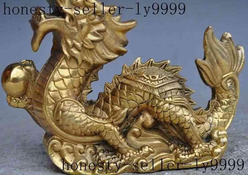 Рождество китайский фэншуй латунь животных зодиака дракон игры Драконий Жемчуг: Жемчуг лаки статуя хэллоуин
